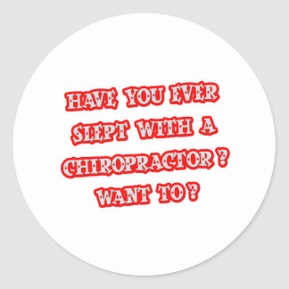 Funny Chiropractor Pick-Up Line Stickers