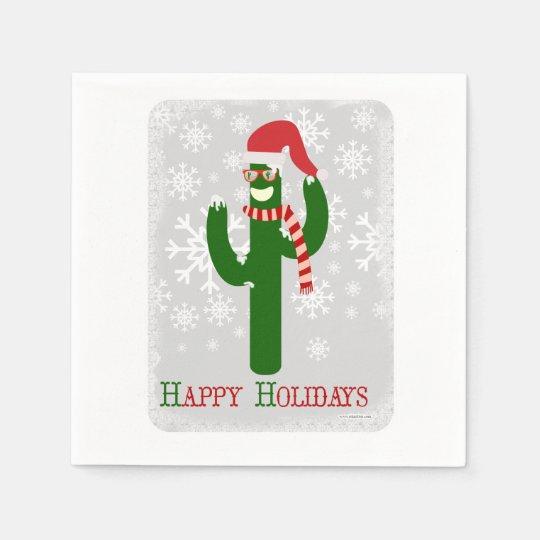 Funny Christmas Cactus Napkin
