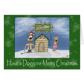 Funny Christmas Cards: Doggone Merry Christmas Card