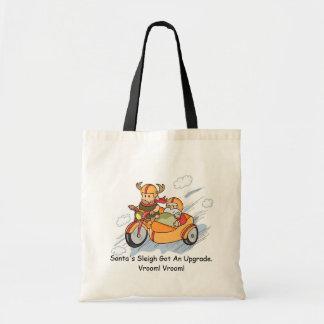 Funny Christmas Cartoon Santa Sleigh Upgrade Tote Bag