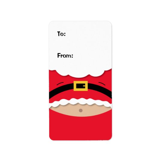 Funny Christmas Gift Tag Label Address Label