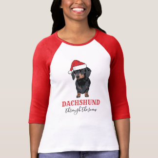 Funny Christmas Pet | Dachshund Through The Snow T-Shirt