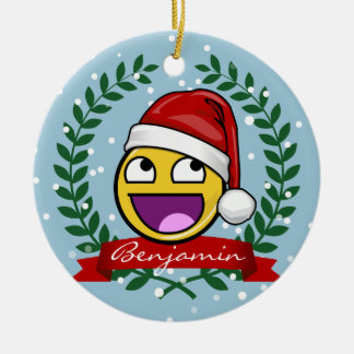 Funny Christmas Style Awesome Face Meme Christmas Ornament