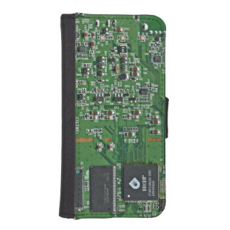 Funny circuit board iPhone SE/5/5s wallet case