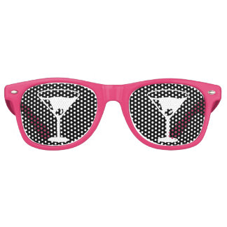 Funny cocktail glass pink party shades sunglasses