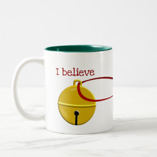Funny Coffee Christmas I Believe Two-Tone Coffee Mug