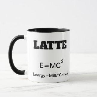 Funny Coffee Mug a science pun E=MC2.