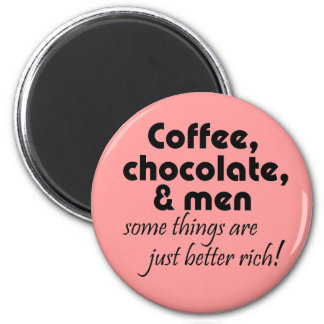 Funny coffee shop gifts pink fridge magnets