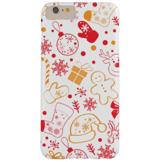 Funny Colorful Christmassy Pattern Barely There iPhone 6 Plus Case
