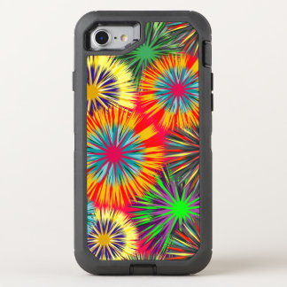 Funny colorful Fireworks Pattern OtterBox Defender iPhone 7 Case