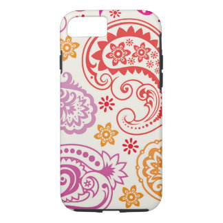 Funny colorful floral Paisley Pattern iPhone 7 Case