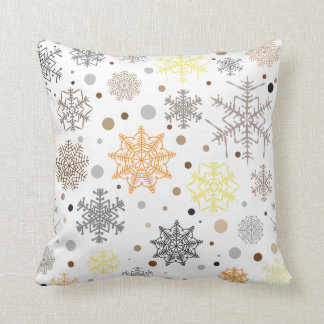Funny Colorful Snowflakes Pattern Cushion