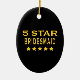 Funny Cool Bridesmaids : Five Star Bridesmaid Christmas Ornament