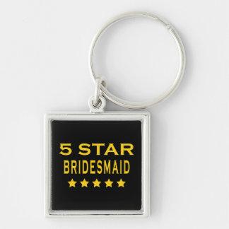 Funny Cool Bridesmaids : Five Star Bridesmaid Key Chain
