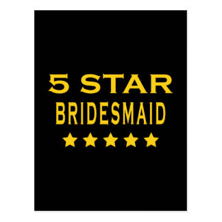 Funny Cool Bridesmaids : Five Star Bridesmaid Postcard