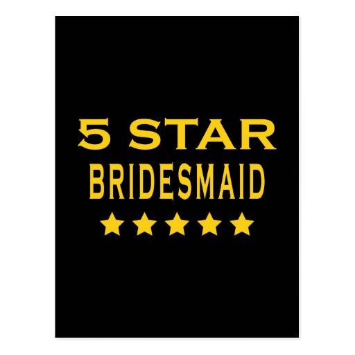 Funny Cool Bridesmaids : Five Star Bridesmaid Post Card