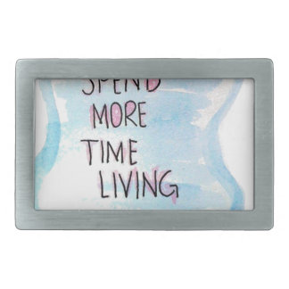 funny cool humor about living rectangular belt buckle