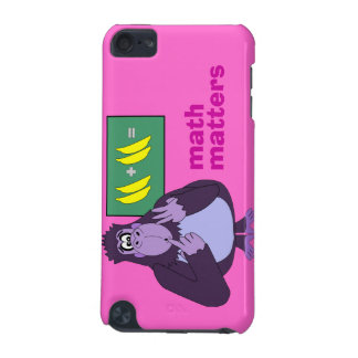 Funny Counting Gorilla Math Pink itouch Skin iPod Touch 5G Cases