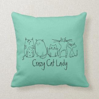 Funny Crazy Cat Lady Cushion