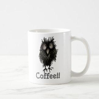 Funny Crazy Cute Coffee Paul Stickland Owl Coffee Mug