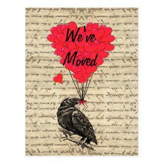 Funny crow change of address postcard