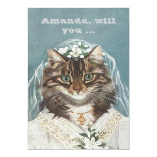 Funny custom be my bridesmaid/maid of honor 13 cm x 18 cm invitation card
