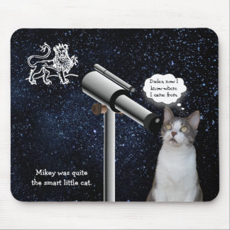 Funny, Customizable Star Gazing Cat Mouse Pad