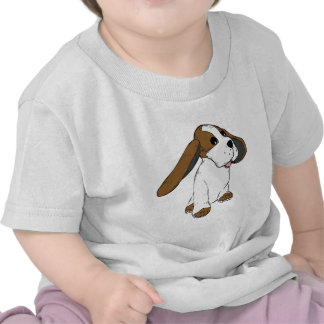 Funny cute animated dog with big ears t shirts