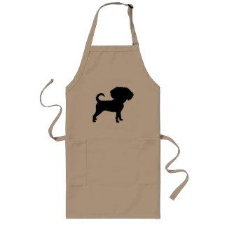 Funny Cute Big Head Puggle Dog Long Apron