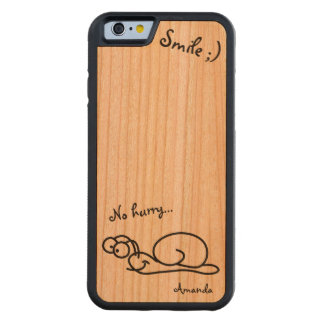 Funny Cute Relaxed Customizable Cherry iPhone 6 Bumper