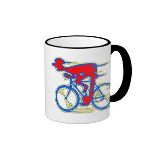 Funny Cycling Abstract Mugs
