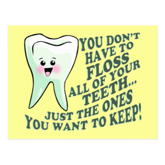 Funny Dentist or Hygienist Postcard