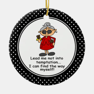 Funny Diet Humor Christmas Ornament