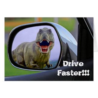 Funny Dinosaur Aging Birthday Card