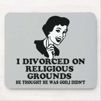 Funny divorce mouse pad