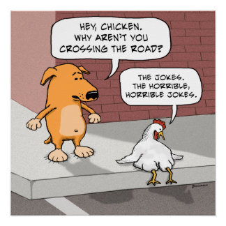 Funny Dog and Chicken Poster