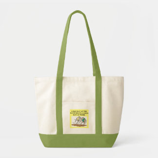 FUNNY DOG RACING JOKE TOTE BAG