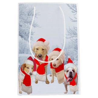 Funny Dogs/Yellow Lab Christmas Gift Bag