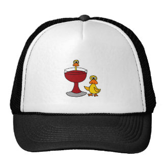 Funny Ducks with Red Wine Glass Cap