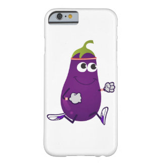 Funny Eggplant Runner Barely There iPhone 6 Case