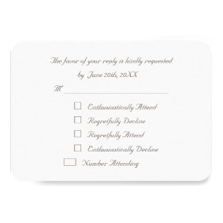 Funny Elegant Custom Party RSVP Invitation Card