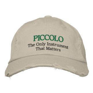 Funny Embroidered Piccolo Music Hat
