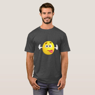 Funny Emoji Sticking out Tongue T-Shirt