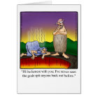 Funny Encouragement Humour Greeting Card
