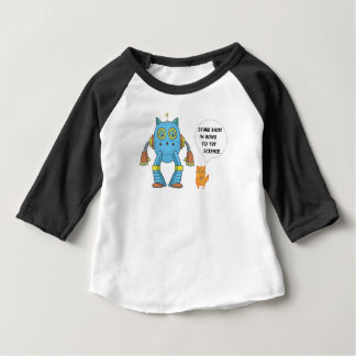 Funny Engineering Science Robotics And Angry Cat Baby T-Shirt