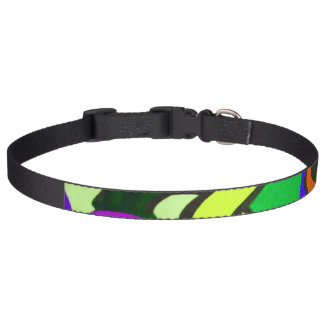 Funny Face Green Dog Collar
