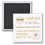 Funny Faces 50th Birthday Gag Gifts Magnets