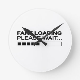 Funny Fart Loading Round Clock