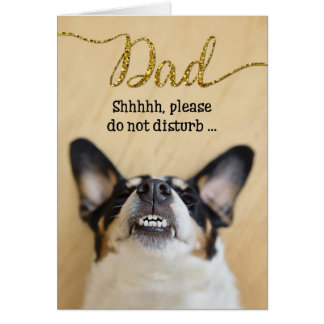 Funny Father's Day Card - Dog with Goofy Grin