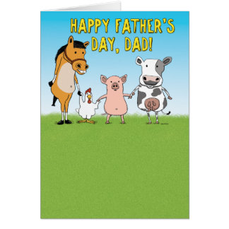 Funny Father's Day Card: Raised in a Barn Greeting Card